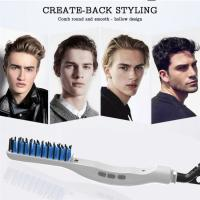 China Wholeslae Men Quick Hair Beard Straightener Styler Comb Hairbrush Massage Comb Detangle Shower Brush Hair Styling Comb f on sale