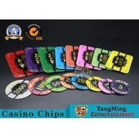 Square Crystal Acrylic Poker Chips With Custom Logo / Super Touch Texture Poker Plaque Manufactures
