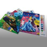Cartoons Painting Softcover custom coloring book printing Service Manufactures