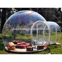 Quality Clear Inflatable Tent , Inflatable Crystal Bubble Tent for Outdoor Camping for sale