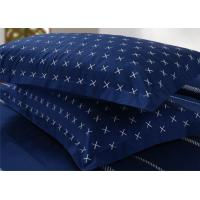 Quality 4Pcs Blue Bedding Sets , 100% Cotton Diamond Embroidered Navy Simple Bedding Sets for sale