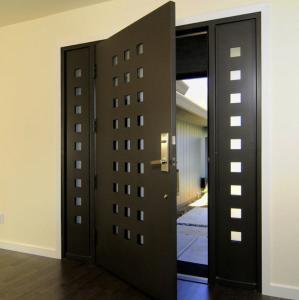 USA Villa Main Entry Door Modern Design Pivot Wooden Doors Manufactures