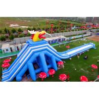 Quality Super Large Inflatable Water Park With Long Ramp / Outside Inflatable Water for sale