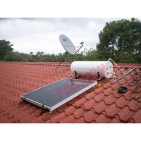 300L Thermal Flat Plate Collectors Solar Water Heating System 304 Inner Tank Blue Film Manufactures