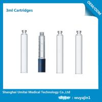 Professional Insulin Pen Cartridge Glass Dental Cartridges With Rubber Stopper 3ml Manufactures
