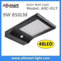 48 LED 850LM PIR Solar Sensor Wall Light With 4400mAh Li-ion Battery Black Lampshade For Road Garden Yard Illuminating Manufactures