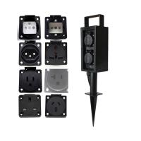 Outdoor Garden In-ground Lawn Insertion Electrical Power Sockets Outlet Stake 10A AC250V Manufactures