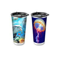 China Custom Printed 3D Lenticular Printing Service 3D Plastic Cup 420ML on sale
