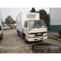 best price JMC 4*2 LHD 115hp cold room truck for sale, high quality CLW brand JMC LHD diesel 3-5tons cold room truck Manufactures