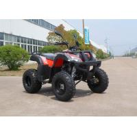 Red Off Road CVT 150CC ATV Hydraulic Brake On Forest Road , Chain Drive Manufactures