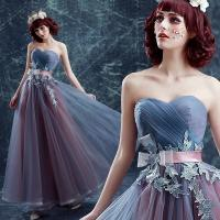 Gray And Purple Off The Shoulder Stage Show Dress Gorgeous Evening Dress TSJY133 Manufactures