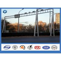 Traffice Signal Frame Structure street sign posts , Above 95% Penetration rate road sign pole Manufactures