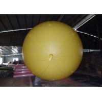 Yellow Inflatable Advertising Balloons For Commercial Advertising  2.5m Diameter Manufactures