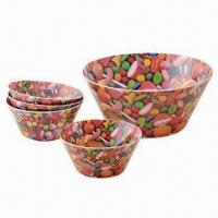 Salad Bowls, Made of 100% Melamine, Suitable for Promotional and Gifts, FDA Certified Manufactures