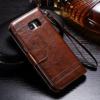 Samsung S7 Edge Leather Wallet Case , Three ID Card Slot Detachable Wallet Case Manufactures