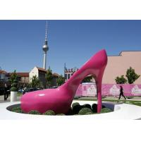 Pink Heels Stainless Steel Sculpture Art Painted Corrosion Resistant Urban Sculpture Manufactures