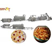 Breakfast Cereals Extruder Machines , Corn Flakes Production Line CE Certificated Manufactures