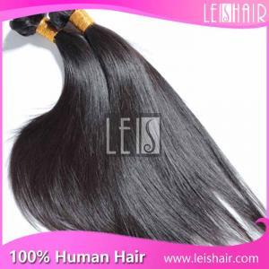 100% Unprocessed straight virgin brazilian hair weave bundles wholesale Manufactures