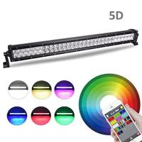 Multi Color LED Car Light Bar 22 Inch 120W Bluetooth App / Wiring Harness Control Manufactures