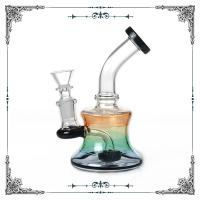 Buy cheap 6 Inches Mini Bong Black Showerhead Perc Glass Water Pipes 14mm Joint from wholesalers