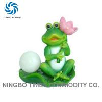 Solar Powered Frog Garden Lights , No Pollution Resin Decorative Solar Lanterns Manufactures