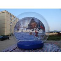 Customized Theme Inflatable Snow Globe for Christmas / Halloween With PVC Material Manufactures