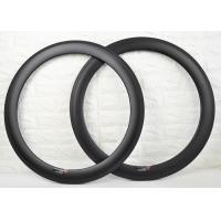 China 700c 60mm Carbon Clincher Rims , Carbon Cycling Rims To Absorb Vibrations on sale