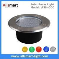 Φ130x60mm Round Solar Paver Lights Maintenance Free Solar Brick Lights Solar Underground In-ground Lights Waterproof Manufactures
