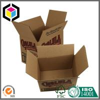 Single Black Color Custom Print Corrugated Carton Packaging Box Regular Case Manufactures