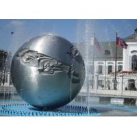 Silver Sphere Water Feature / Sphere Water Fountain Outdoor For Large City Decoration Manufactures