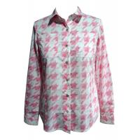 Semi formal Printed female / ladies blouses and shirts with two pockets Manufactures