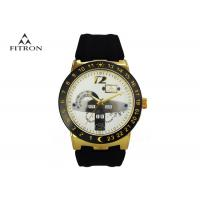 Alloy Shell Classic Mens Wrist Watches With Silicone Strap Popular Design Manufactures