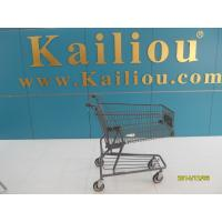 Custom Metal Shopping Carts for groceries with front advertisement Manufactures