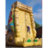 Portable Yellow Inflatable Rock Climbing Wall Outdoor , Blow Up Rock Climbing Wall Made In China Manufactures