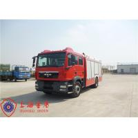 Electronic Speed Limit CAFS Fire Truck 4x2 Drive 9850×2500×3200mm Dimension Manufactures