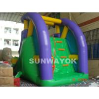 Custom 0.55 mm PVC / plato TM Inflatable Water Slide With Climber for aqua park Manufactures