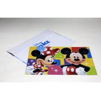 Quality Large Format Custom Postcard Printing Services , Disney Printing 4C+PMS/0C for sale