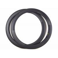 Quality Clincher / Tubuless Carbon Road Bike Rims 60MM 700C Lightweight With Basalt for sale
