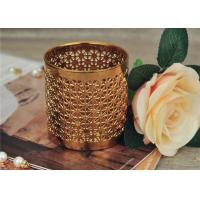 Golden Pottery Home Decor Candle Holders Glazing Outside And Inside Wall Manufactures