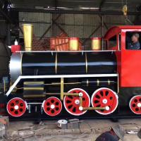 Buy cheap Outdoor Tourist Train Rides Theme Park Steam Train Rides For Families from wholesalers