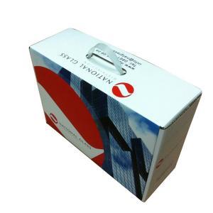 Environmental Material Custom Print Corrugated Packaging Box Plastic Handle Manufactures