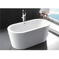 Quality Polyester Resin Freestanding Soaking Bathtubs For Small Space Solid Surface for sale