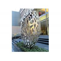 Hollow Eggs Stainless Steel Sculpture Modern Installation Art Sculpture Manufactures