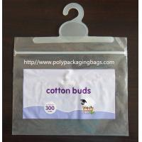 Resealable Poly Bags With Hangers / Ziplock Plastic Bag with Hook Manufactures