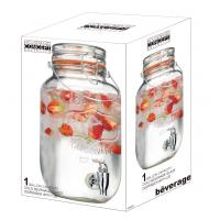 Eco-friendly capacity 3.78L cold glass beverage dispenser with lid for bar&home&hotel Manufactures