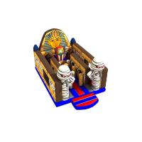 Buy cheap Egyptian Mummy Pharaohs Themed Inflatable Jump House Without Roof 4.5x7x4m from wholesalers