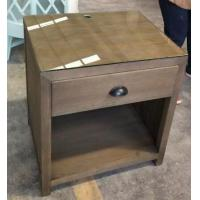 glass top wooden night stand /bed side table,hospitality casegoods,hotel furniture NT-0083 Manufactures