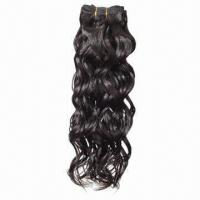Hair Weaves, Machine-made, Natural Color with Curly Texture Manufactures