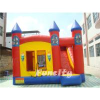Red Torch Inflatable Combo Bouncers With Slide Fire Retardant PVC Tarpaulin Manufactures