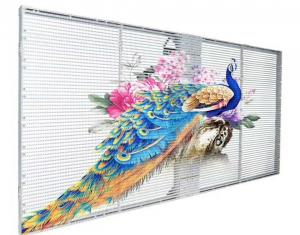 Shop Window SMD1921 P7.81 Advertising LED Mesh Screen Manufactures